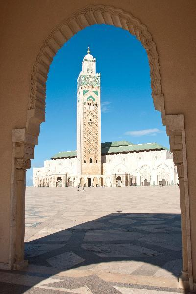 Hassan II Mosque in Casablanca on Morocco vacation