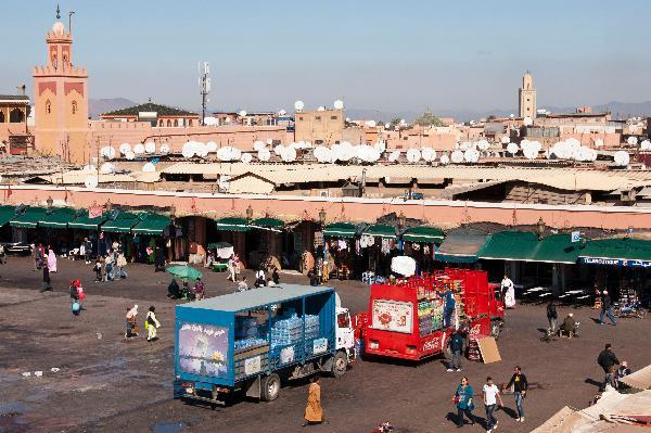Marrakech market on Morocco vacation