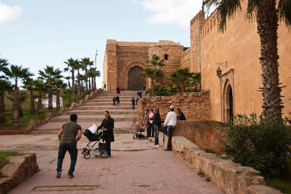 City wall in Rabat on Morocco tour