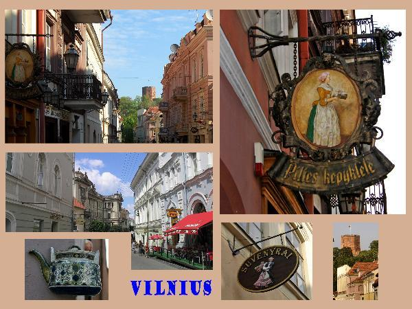 Vilnius streets in Lithuania